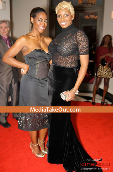 NeNe from Housewives of Atlanta on right.