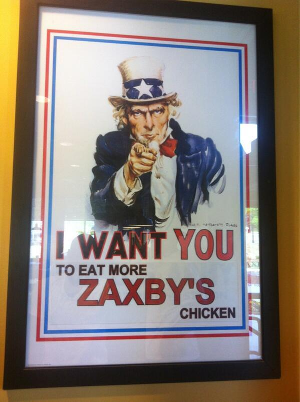 Uncle Sam at Zaxbys