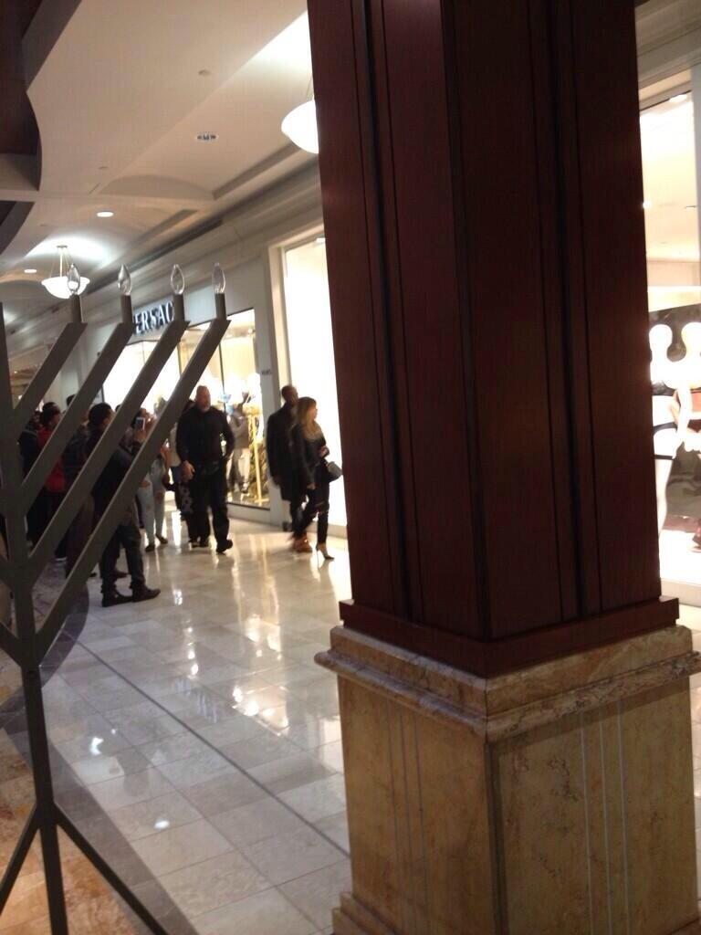 Kanye West & Kim Kardashian at Phipps Plaza.