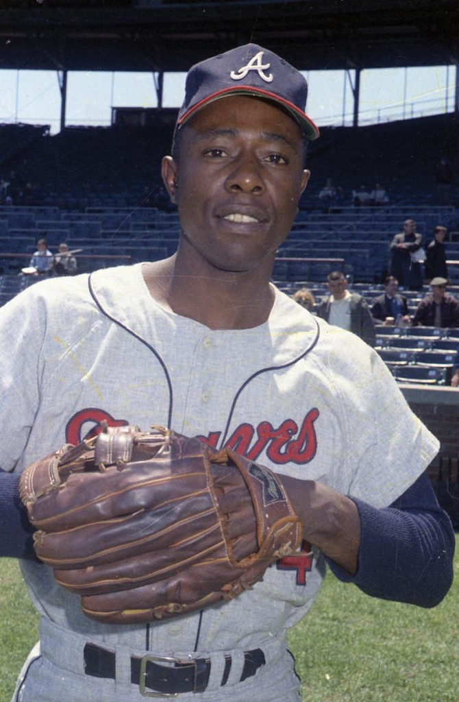 Hank Aaron, Atlanta Braves George Brace Negative