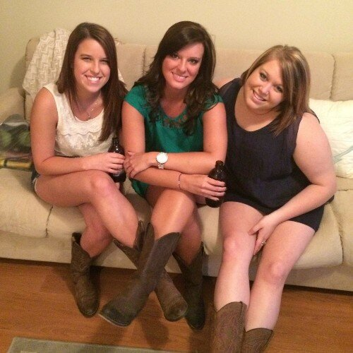 College Girls in Cowboy Boots Girl Without Cowboy Boots