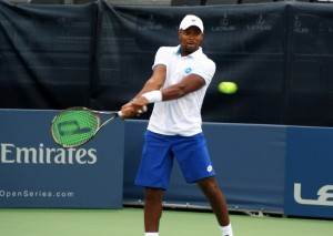 Donald Young was defeated in action on Monday night
