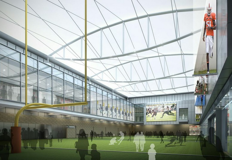 A rendering of the new College Football Hall of Fame in Atlanta