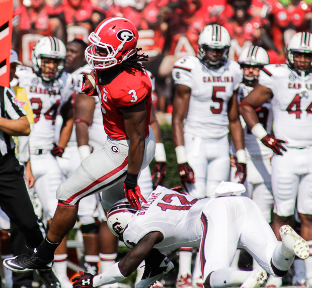 Georgia Football versus South Carolina