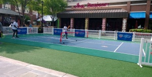 Kids playing the great sport of tennis