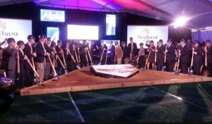 The Atlanta Braves break ground on the new SunTrust Park