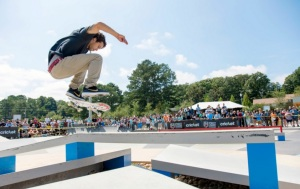 Big Air as Cricket Wireless brought out the skateboarders of the SLS to Kennesaw on Sepetember 13. 2014.