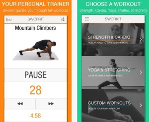 Sworkit helps you create an exercise program