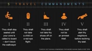 Read Kayak's travel coomandments