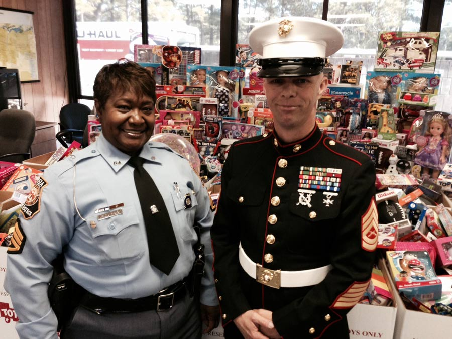 Georgia State Patrol & Marines Collect Over 1,000 Toys for Christmas