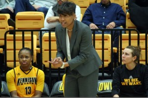 Kennesaw State's women's basketball coach, Nitra Perry.