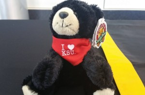 The Kennesaw State Teddy given away for Valentine's Day