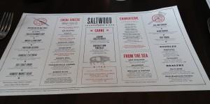 The Saltwood menu