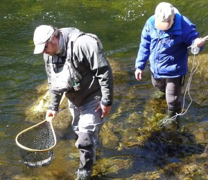 Catching big fish at Snowbird