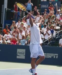 Andy Roddick celebrates after winning the 2012 BB&T Atlanta Open