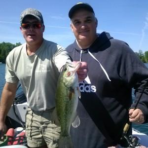 Bass fishing on Elkhart Lake