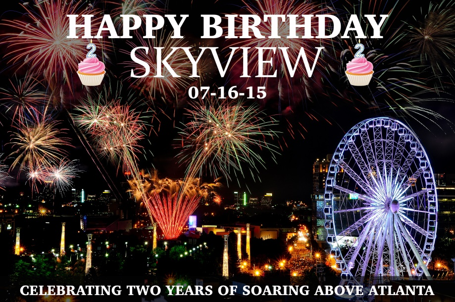 Skyview Atlanta Ferris Wheel Turns 2