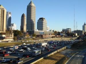 Fourth of July traffic in Atlanta