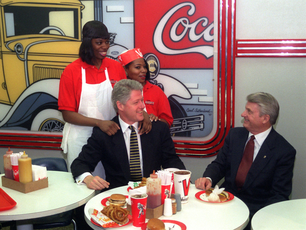 Bill Clinton Visits The Varsity