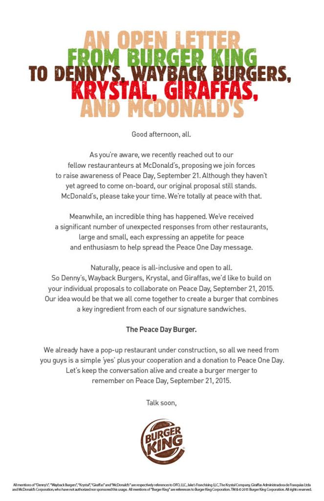 New Burger King Open Letter