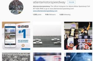 Atlanta Motor Speedway is a popular Instagram choice