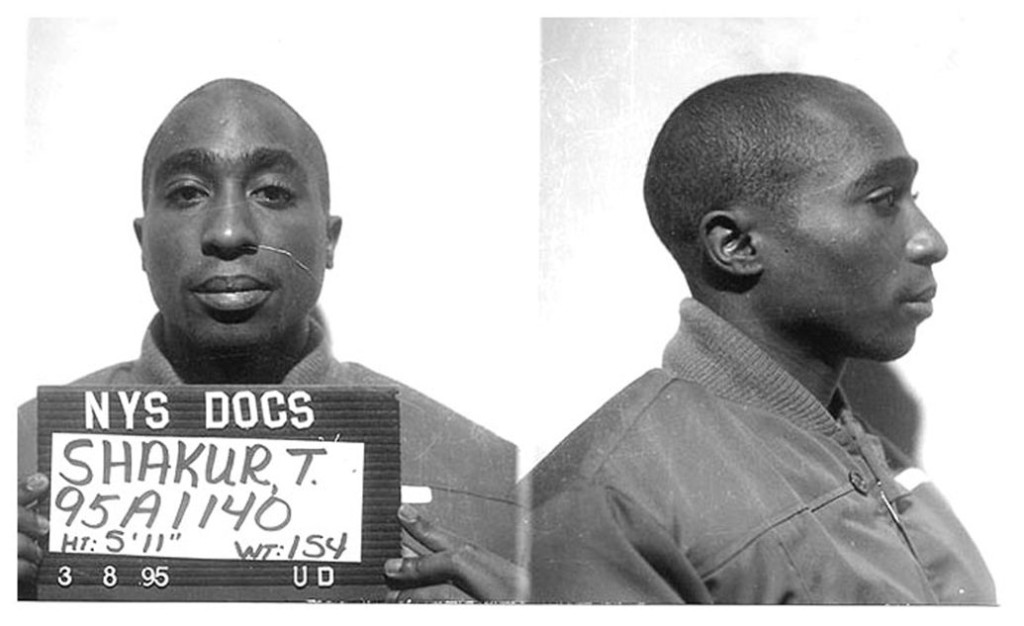Tupac Shakur mug shot for the New York State Department of Corrections in 1995 Michael Ochs Archives/Getty