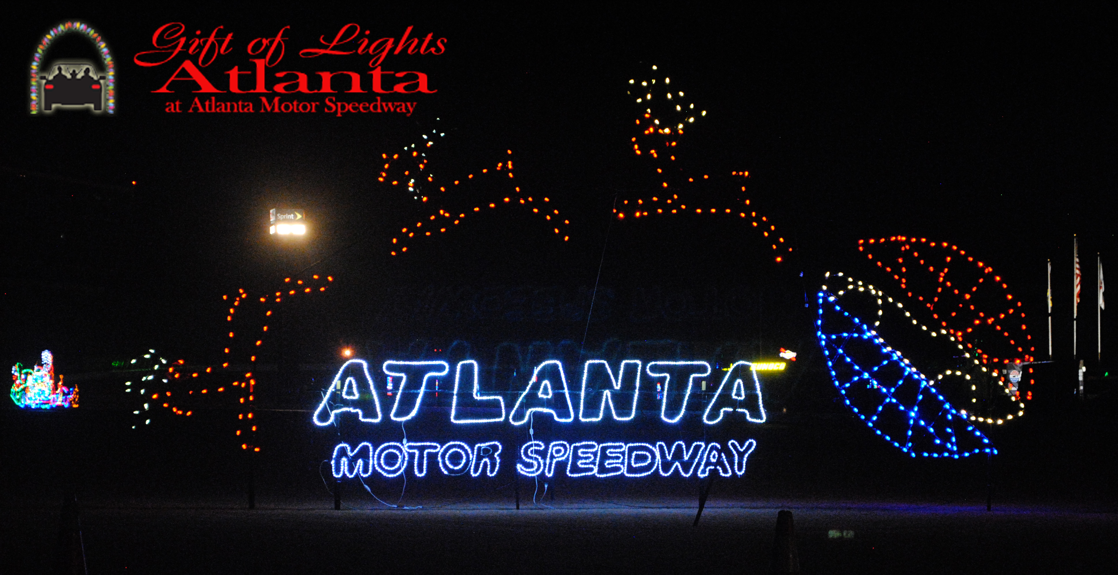 gift of lights atlanta motor speedway logo - Jones Beach Christmas Light Show