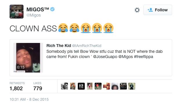 Migos-Bow-Wow-Dab-Tweet