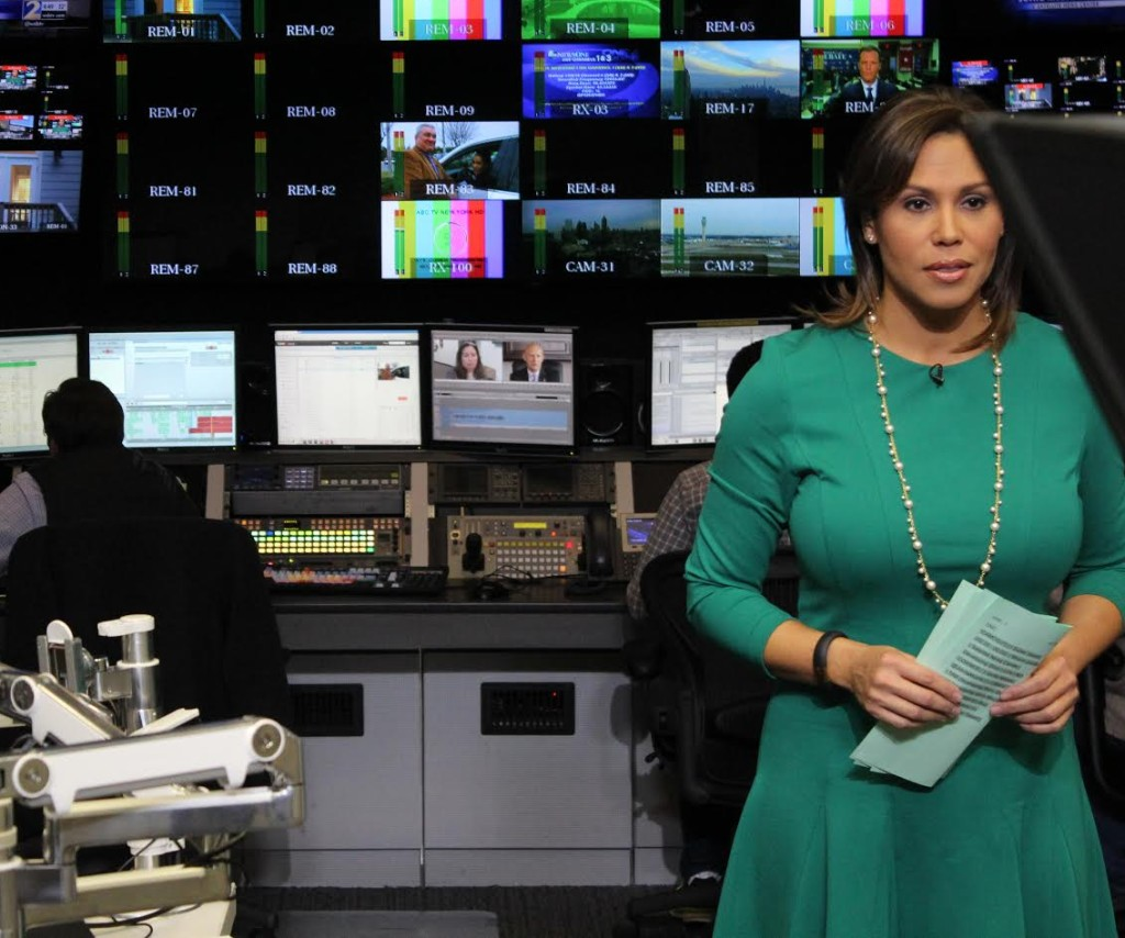 Jovita Moore preparing at WSBTV
