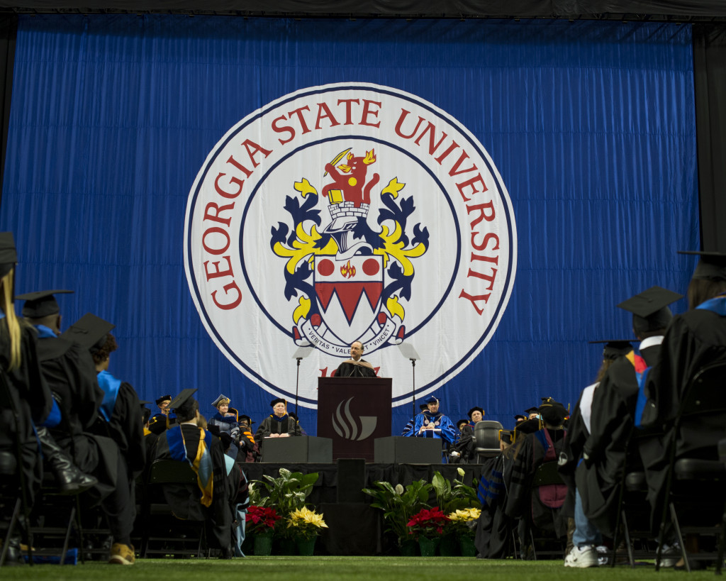 Georgia State University !00th Commencement at the Georgia Dome. Photo Credit: Meg Buscema/ Georgia State University