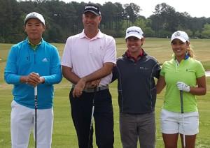 Andy Zhang, Stewart Cink, Brian Harman and Ana valdes