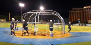 Batting practice with the Biloxi Shuckers