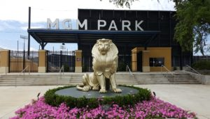 An entrance to MGM Park