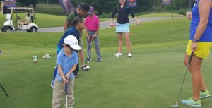 A junior golf clinic was held on Tuesday at Atlanta National