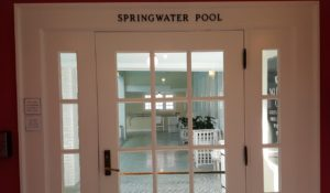 Spring-fed indoor pool