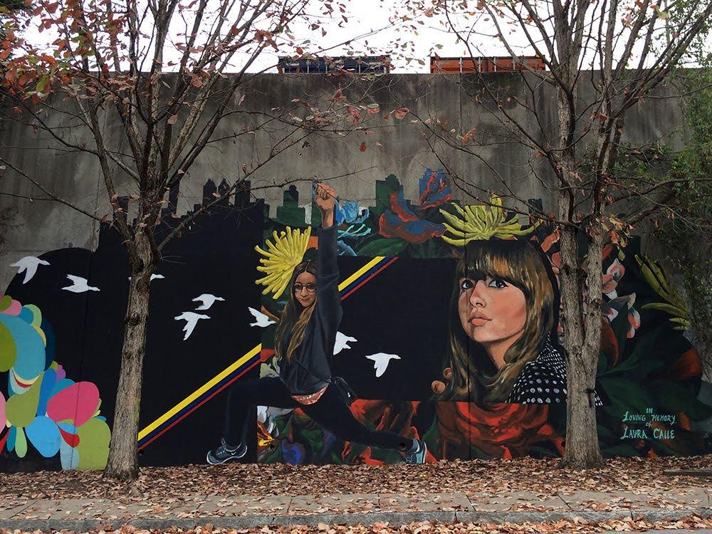 Mural dedicated to Laura Patricia Calle