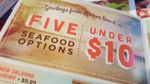 Hooters under $10 Summer Menu