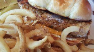 Hooters Blackened Mahi Sandwich