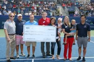 Folded Flag Foundation Coin Toss at the BB&T Atlanta Open
