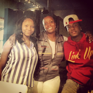 K Camp with Mama Camp  (center)