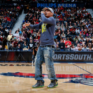 ATLANTA, GA - DECEMBER 22:  Rapper T.I. performs at halftime of the game between the Atlanta Hawks and the Chicago Bulls at Philips Arena on December 22, 2012 in Atlanta, Georgia.  NOTE TO USER: User expressly acknowledges and agrees that, by downloading and or using this photograph, User is consenting to the terms and conditions of the Getty Images License Agreement.  (Photo by Kevin C. Cox/Getty Images)