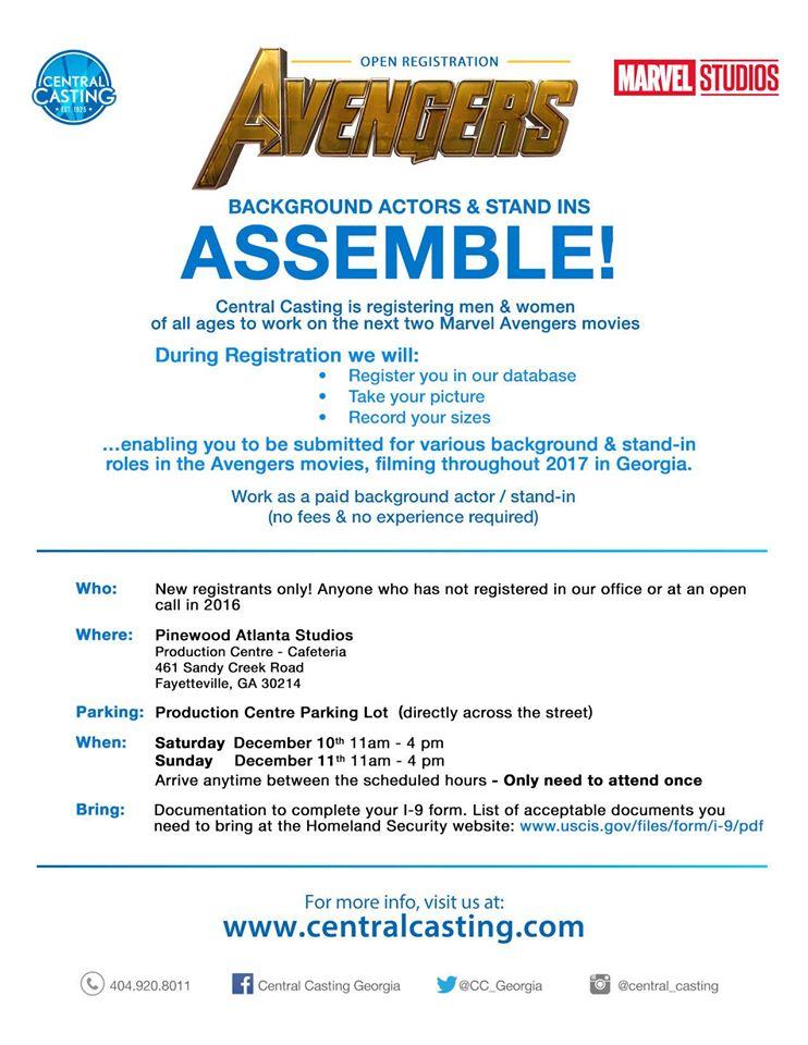New Casting Call In Metro Atlanta For Marvel's Avengers