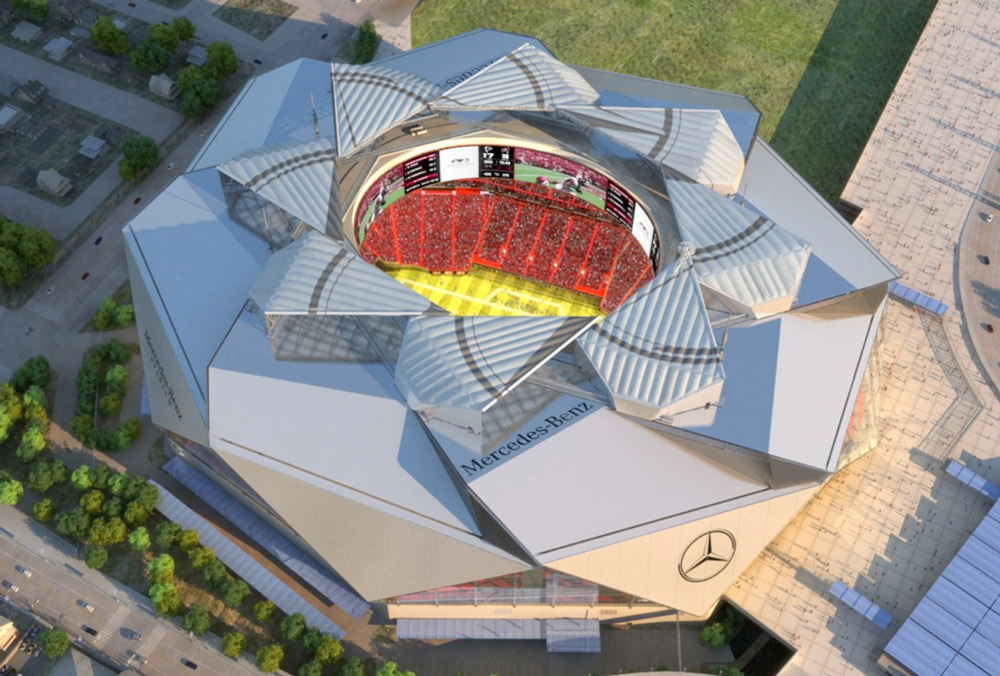 Mercedes benz stadium sneak peek gafollowers for Atlanta ga mercedes benz stadium