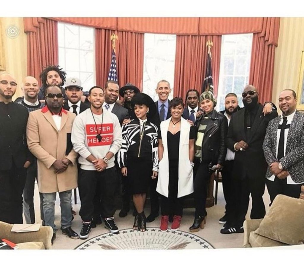 Rappers in White House