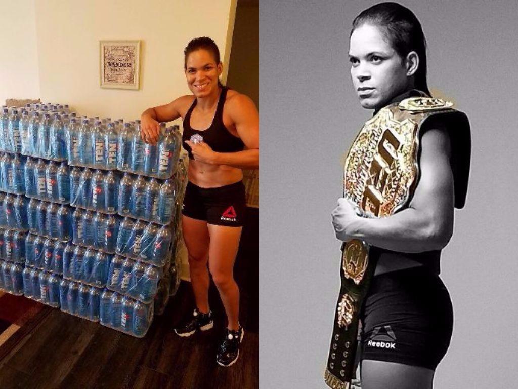 Amanda Nunes; TEN spring water; alkaline water