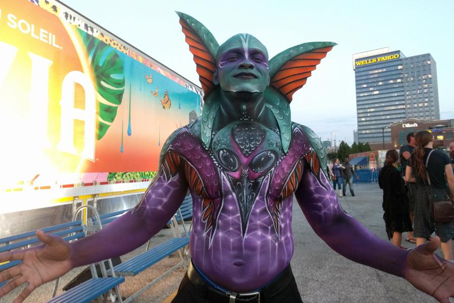 Cirque du Soleil Artist Posing for Photo