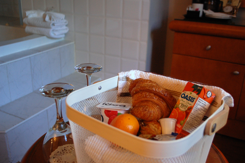 Breakfast Basket at Auberge Le Pomerol