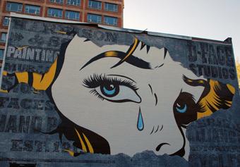 DFace Mural in Montreal