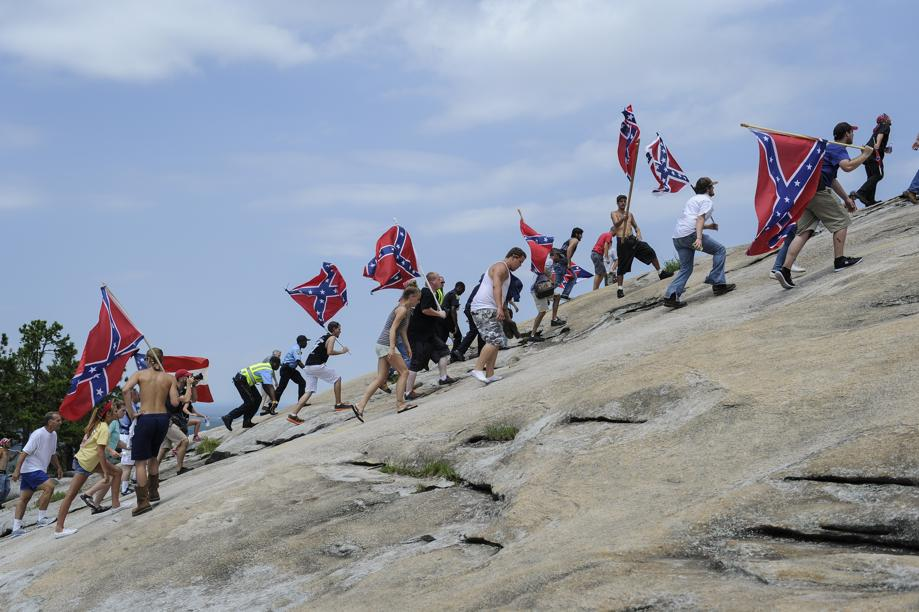 Who are the people on stone mountain