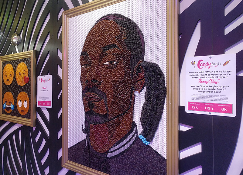 Candytopia Snoop Dog Art in Atlanta